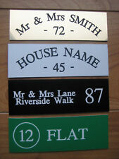 HOUSE NAME FLAT NUMBER DOOR SIGN 150 X 50 *ENGRAVED* MANY COLOURS