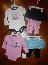 NEW Girls Disney Pink Blue Green Minnie Mouse or Purple Bambi Set 0-3m 6m-9m