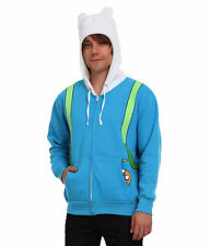 Adventure Time Finn Costume Hoodie New