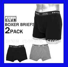 LOT 2 NEW PRO CLUB GREY & BLACK MEN'S UNDERWEAR BOXER BRIEF SHORTS SIZE S-7XL