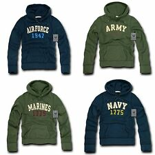 RapDom Military Navy Air Force Army Marines Fleece Pullover Hoodie Sweat shirt