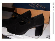 NWT American Eagle Outfitters BLACK SUEDE SHOE heels