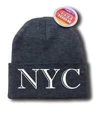 "FOR MEN WOMEN ""NYC"" NEW YORK FUNNY HOP Snowboard Ski Long Beanie HAT ONE SIZE"