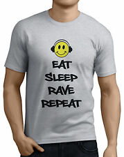 Eat Sleep Rave Repeat Smiley Face Headphones Funny T-Shirts Small / XX-Large.