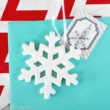 100 Porcelain Snowflake Ornament Christmas Wedding Favor Can be Personalized