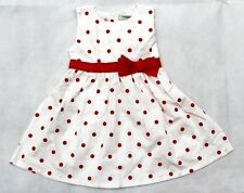 T139   Cute Bow Dress Beautiful Red/Black Dots Sleeveless Baby for Girl Dress US