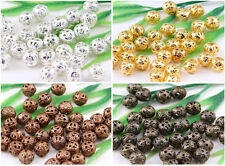 Wholesale Round Filigree Spacer Beads 4mm,6mm,8mm,10mm,Silver,Gold,Copper,Bronze