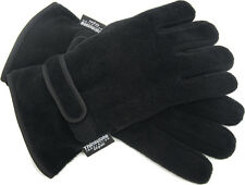 MENS POLAR FLEECE THINSULATE FULL FINGER GLOVES WARM WINTER THERMAL MITTS