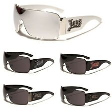 Oversized Locs Gangster Shades Metal Rim Mens Sunglasses Black White Mirror Lens