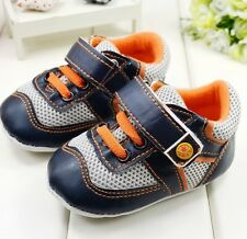 S479 Handsome Fashion Sport Baby shoes Boy Velcro Shoes Film Soft Bottom US
