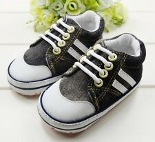 S442 Very Cute Cowboys wear thick section soft sole baby shoes for boys CA