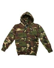 Kids Army DPM Camo Hoody Childrens Military Hoodie Zip Jumper
