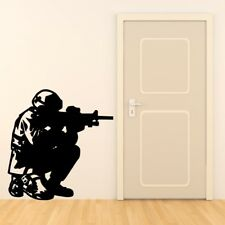ARMY SOLDIER wall sticker kids military boys bedroom soldiers stickers art vinyl