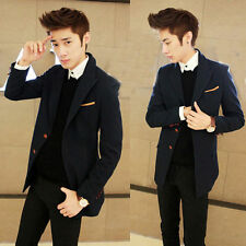 Men's Korean Style Casual Lapel Single Breasted Cool Blazers Coat Jacket Suits