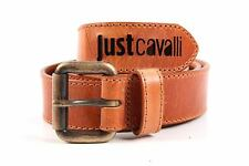 JUST CAVALLI MEN'S GENUINE LEATHER BELT NEW BROWN  72E