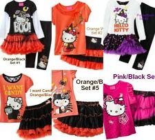 * NWT NEW GIRLS 2PC Hello Kitty Halloween Costume TUTU OUTFIT SET 2T 3T 4T 5 6 7