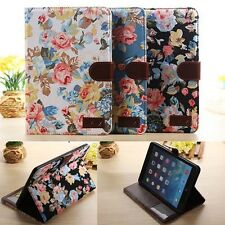 ID CARD Flower Floral Magnet Case Cover for Apple iPad Mini 2 2nd Retina Air 5th