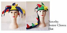 Clown Jester Circus Bells Party Novelty Unisex Adult Hat