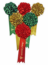 Stunning Hand Crafted Christmas Gift Bows with matching Ribbon for a Deluxe Xmas