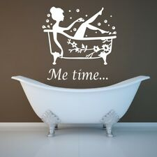 ME TIME BATHROOM wall sticker relax quote calm decal vinyl art stickers metime