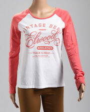New Elwood Lady Long Sleeve Tee Dusty Red Sizes XS S M  RRP 59.99