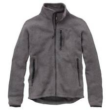 Timberland Men's Marled Full-Zip Fleece Jacket Charcoal BRAND NEW