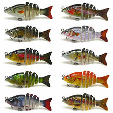 "2"" Multi Jointed Fishing Hard Lure Bait Swimbait Life-like Bluegill Sinking Bass"