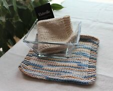 Hand Knit Cotton Wash Cloths Many Colors