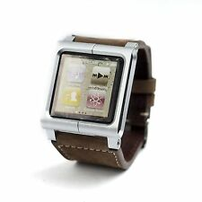 Leather Multi-Touch Wrist Strap Watch Band for iPod Nano 6th Generation US Stock