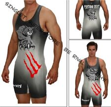 Wildcat wrestling singlet, includes custom text, no minimums or set up fees