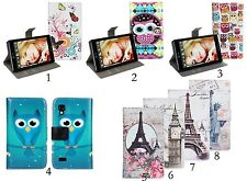 1x Luxury PU Leather Wallet Stand Case Cover Skin For LG Optimus L9 P760 P768