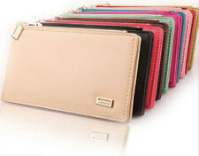 10color Card Coin Long Lady Purse womens Clutch Bifold Wallet Faux Leather Bag
