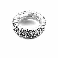 1 , 2, 3, 4, 5, 6 rows crystal stretch ring multiple choices