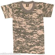 ACU ARMY DIGITAL CAMOUFLAGE USA MADE KIDS SHORT SLEEVE T-SHIRT -Very Comfortable
