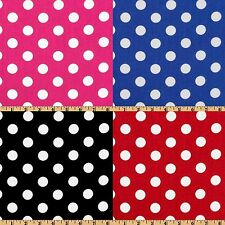 "50 Yards Polka Dot Satin Fabric 60"" Wide 100% Polyester Charmeuse Wholesale"