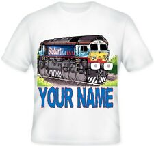 ★★ Kids Child's Personalised EDDIE STOBART TRAIN T Shirt Great Gift Idea  ★★