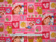 Strawberry Shortcake Girl design cotton quilting fabric *Choose favourite!