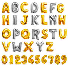 "14"",40""Silver,Gold Foil Letter&Number Balloons Party Birthday Wedding Decoration"
