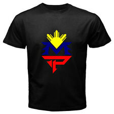 New Manny Pacquiao Pinoy Pacman Boxing Champion Men's Black T-Shirt Size S-3XL