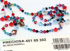 Preciosa GENUINE CZECH CRYSTAL Rondell Bicone Beads - All Colors & Sizes