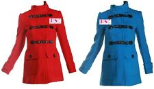 PRIMARK - Womens Ladies BLUE or RED  Smart Casual Military Winter Coat Jacket