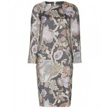NWT AUTH DRIES VAN NOTEN RUNWAY METALLIC WOOL-BLEND DRESS