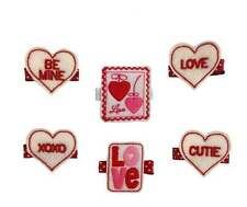 Valentine's Day Hair Clippies (6 Designs to choose from)