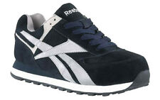 REEBOK Mens STEEL TOE Retro Jogger Athetic Work Shoes Navy Leather/Suede RB1975