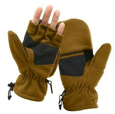 Mens Winter Gloves -Fingerless Sniper Glove/Mittens Coyote Brown Rothco