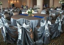 "100 Tissue Lame Chair Cover Sash Bows 6""x108"" Metallic Gold or Silver Wedding"