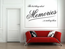 Making Memories Quote Vinyl Wall Art Sticker, Mural, Decal