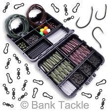 Carp Fishing Terminal Tackle Box Shrink Tubing Swivels Lead Clips Hooks etc