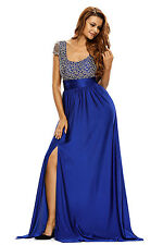Strapless Dress Draped Top Sheet Blue Hi/Lo Chic Lady Hot Alluring Wear LC2690