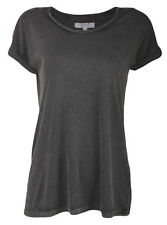 Zara Trafaluc Collection Womens Ladies Grey Embellished Beads Cotton T Shirt Top